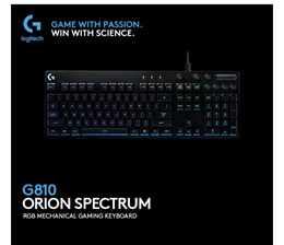 Brand New Logitech G810 Orion Spectrum RGB Mechanical Gaming Keyboard. Local SG Stock and warranty !