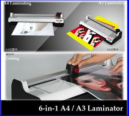 Local Seller And Ready Stock! Multifunction 6-in-1 A4 / A3 Laminator **Laminate Paper Cutter**
