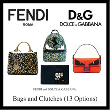 Fendi Dolce and Gabbana Bags and Clutches (Available In 13 Options)