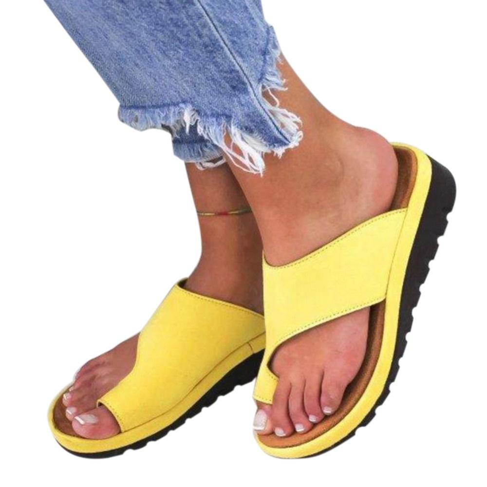 7e8f9db89 Qoo10 - discount 1 Pair Women Comfy Platform Sandal Shoes Feet ...