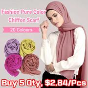 Scarf    Pure Color Pearl Chiffon Bubble Scarf Scarf Ladies Fashion Scarf