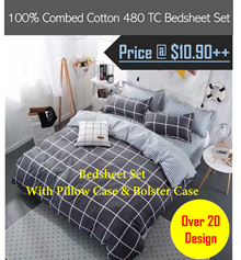 New Design - 480 Thread Count Combed Cotton Bedsheet Set