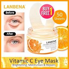 Lanbena Eye Mask 50 sheets - Hyaluronic Acid / Re tinol / Vitamin C / Gold Osmanthus Frangrans