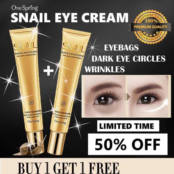?BUY 1 GET 1 FREE?NOURISHING SNAIL EYE CREAM?REMOVES EYEBAGS AND WRINKLES?BRIGHTENS SKIN? Deals for only S$39.9 instead of S$0