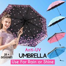 【Over 20 Designs】Umbrella / Anti-UV / UPF50 / Compact / Lightweight / Inner Printing/5 Fold/Straight