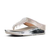 FITFLOP RUMBA TOE THONG CRYSTAL METALLIC SILVER ★100% Authentic★