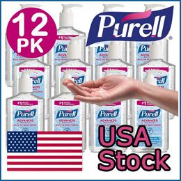 PURELL Advanced Instant Hand Sanitizer COVID-19 mask n95 Refreshing Gel 8 fl oz  6 / 12 PACKS