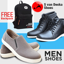 NEW ARRIVAL !! S van Decka Shoes - Man Casual Shoes - Trendy Collection + GET FREE GIFTS!!