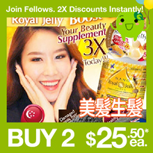 [JOIN FELLOWS! 2X DISCOUNT INSTANTLY!!] ♥NANO ROYAL JELLY ♥PREMIUM ♥BOOSTS 3X HAIR GROWTH