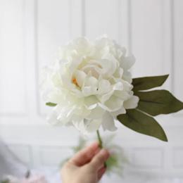 Fake flower Peony (White) (Per Stalk)