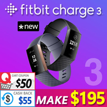🔥Make $195!! 🔥 Fitbit Charge 3 Fitness Activity Tracker /New Release Fall/2018