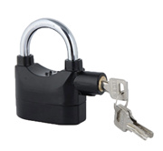 POOH Wireless Burglar Alarm System Alarmed Padlock Home Garage Alarm Security Locks (Black)
