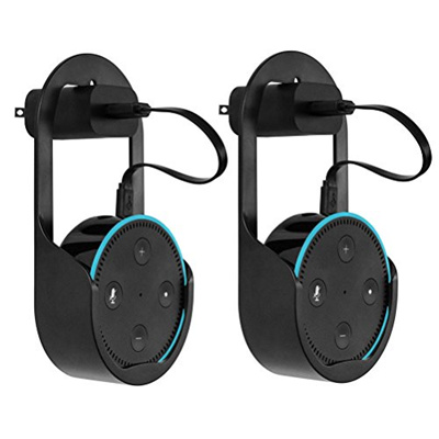 8d0ab48f3c58 Vankcp 2Pcs Outlet Wall Mount Stand Holder for Amazon Echo Dot, Alexa Case  Cover Hanger Box with Two