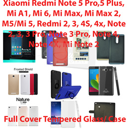 COUPON · Full Cover Tempered Glass/Case*Xiaomi Redmi Note 5 Pro/5 Plus/