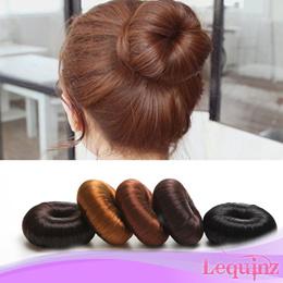 Hair Accessories Synthetic Fiber hair Donut Ring Hair Bun natural hairdo style