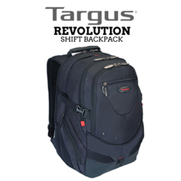 TARGUS Revolution Shift Backpack / 17inch / Water Resistant Base / Hidden Rain Cover