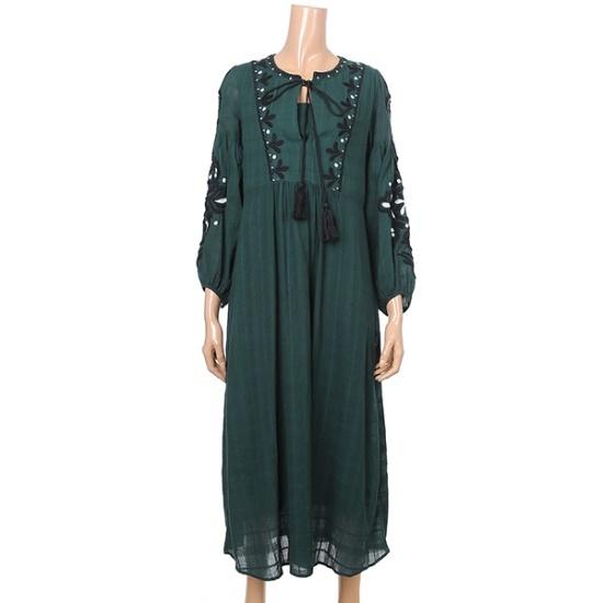ジコッスカジャン自首ロングOPS7227337201 面ワンピース/ 韓国ファッション