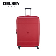 Delsey Paris Travel Luggage Indiscrete Hard 76cm 4 Wheel Trolley Hard Case (Red)