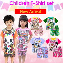 ★Kid Shortsleeve and short pant set Children clothing basic homewear Pajamas★