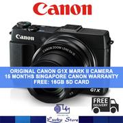 Canon G1X MARK II Digtal Camera * Original Set with Canon Warranty * FREE 16GB Memory Card + Memory Card Case + Mini Tripod