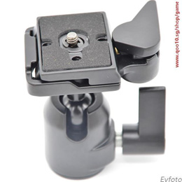 Spherical pan/tilt components compatible with Manfrotto quick 200PL-14 496 486 RC2