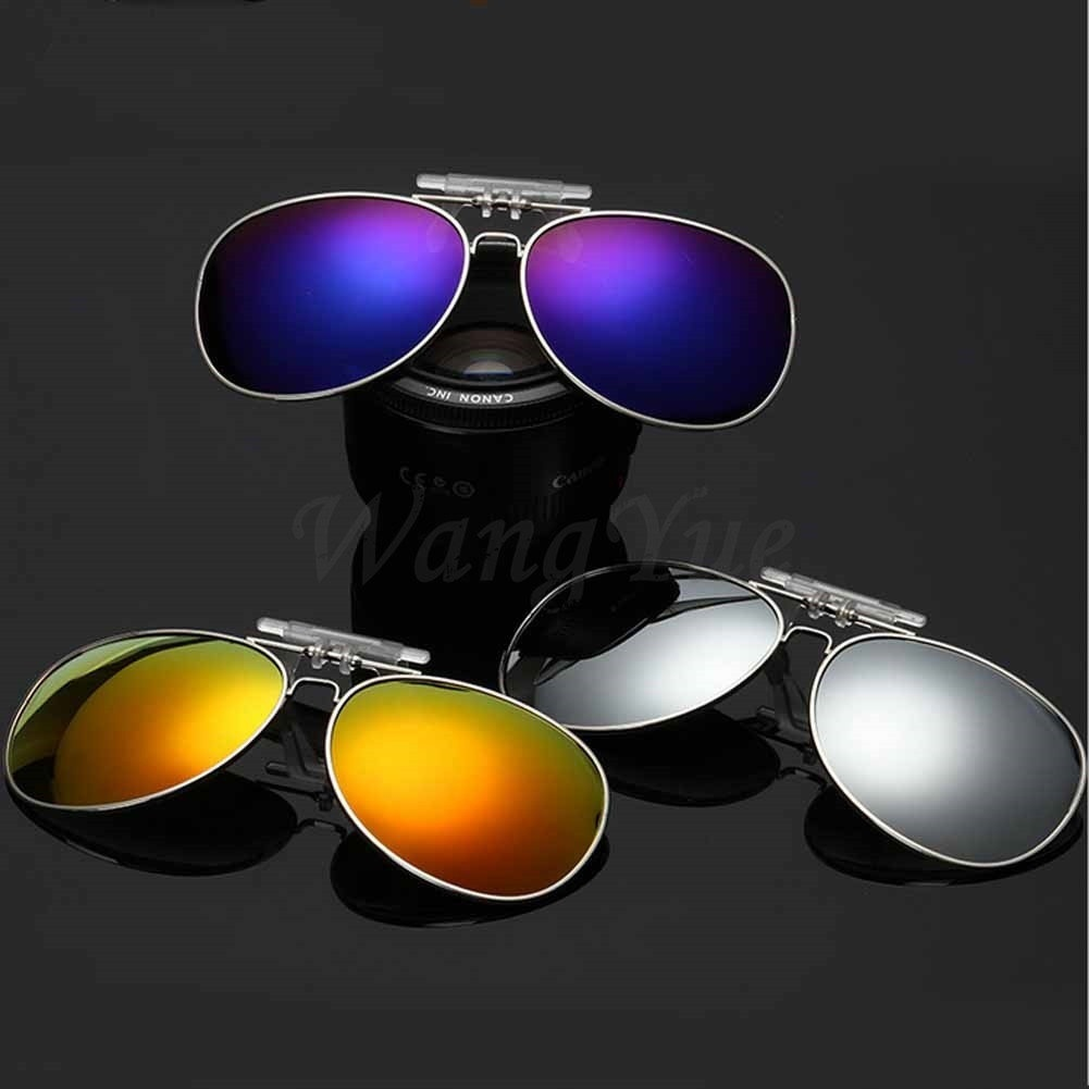 c6afe2345f0 fit to viewer. prev next. Hot sale Polarized Day Night Vision Clip-on Flip-up  Lens Sunglasses Driving Glasses