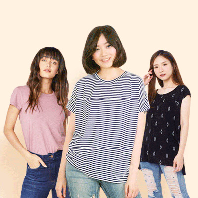New Collection Women Tee- 6 Styles Deals for only Rp15.000 instead of Rp20.000