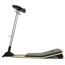 (PERIPHERAL LOGIX) Focal Upright Furniture Locus Leaning Seat with Anti-Fatigue Mat Glacier Whit...