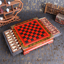 Brand New 32Pcs/Set Resin Chinese Chess With Coffee Wooden Table Vintage Collectibles Gift  Entertai