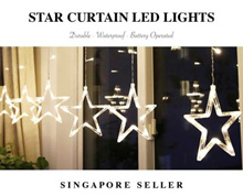 Star Curtain Lights Fairy Light Decorative Warm String Hanging Lights USB Battery Operated Romantic