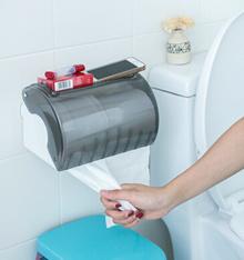 Lazy corner toilet roll holder sucker waterproof glove box tissue box Free punch toilet paper holder 62618