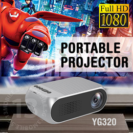 YG300 Upgrade Mini Projector Portable LED Smart Projector Audio AV Au1 HDMI 1080P Full HD