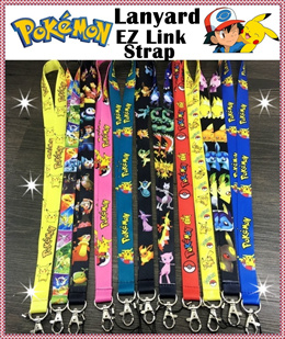 ★Pokemon Lanyard★keychain★EZ Link ID Pass Card Holder★Pikachu★KEY CASES★WALLETS★CARD CASES★Children Gifts Goodies Bag Birthday ★NEW!