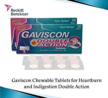 Gaviscon Chewable Tablets for Heartburn and Indigestion Double Action 250MG 16s