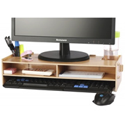Decorative Organizer Wood Monitor Table Storage Table Laptop Table Computer Table (4 Available Color