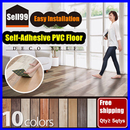 ★【Free shipping:Qty ≥ 5Qtys】★Self-Adhesive PVC Floor ★Tile Stickers ★Easy Installation
