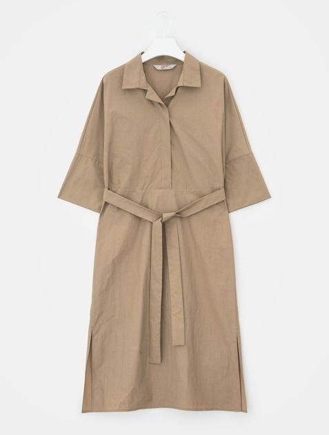 8SECONDS Ribbon Strap Slit Dress - Light Olive
