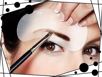 image regarding Eyebrow Stencils Printable identify Eyebrow Stencils Eyebrows form your encounter uncomplicated in the direction of retain the services of 4 alternate versions SKU-00135