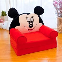 Cartoon children s Sofa foldable lazy sofa Chair plush fabric kids Boy girl toy Gift