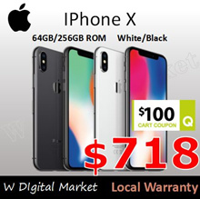 Apple iPhone X Smart Phones 64/256GB Rom 5.8Inch Face ID 3GB Ram 12MP Dual Camera A11 Bionic Hexa