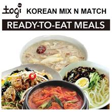 Korean Mix-N-Match! JaJangMyeon JapChae SamGaeJuk KimchiJjiGae