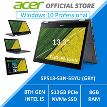 Acer SPIN 5 SP513-53N-55YU (GRY) 13.3-Inch Intel i5 Processor Convertible Laptop - Windows 10 Pro