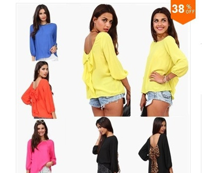 Fashion Women shirt leopard print loose chiffon shirt women s Blouses tops blusas S-XXL 5 colors