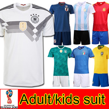 2018 World Cup soccer jersey/suit/adult/kids/Germany/Argentina/Brazil/Spain/Japan/France/Russia