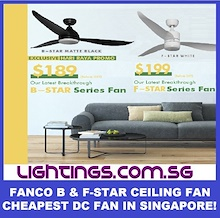 FANCO B-Star / F-Star  DC Ceiling Fan - Remote - 3 Tone LED