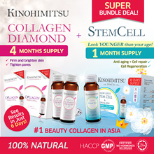 Kinohimitsu 5mth supply Collagen [Diamond 32s x2sets + Collagen Stemcell 16s]