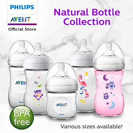 {QPrime shipping} Philips Avent 125ml/250ml Natural Feeding Bottles Single Pack