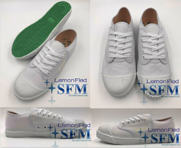 [LOCAL]SCHOOL SHOES NANYANG WHITE/BLACK SNEAKERS CANVAS SHOES
