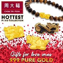 Chow Tai Fook 999 Pure Gold Hottest Pi Xiu Collection