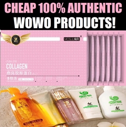100% AUTHENTIC FULL RANGE OF WOWO PRODUCTS! BUT AT A MUCH CHEAPER PRICE!